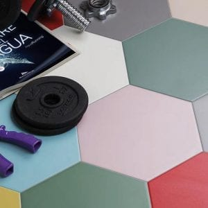 Azulejos Hexagonales Serie BASIC HEX para suelos y paredes