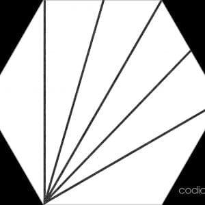Hex 25 Aster Blanco Hexagonal 22×25