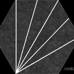 Hex 25 Aster Nero Hexagonal 22×25