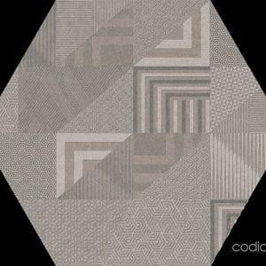 Hex 25 Atlanta Geo Grey Hexagonal 22×25