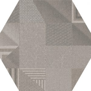 Hex 25 Atlanta Geo Grey Hexagonal Variedad 2 22×25