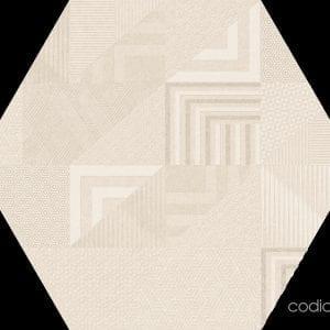 Hex 25 Atlanta Geo Ivory Hexagonal 22×25