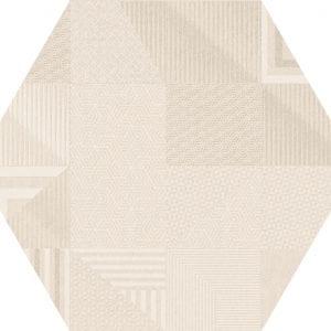 Hex 25 Atlanta Geo Ivory Hexagonal Variedad 2 22×25