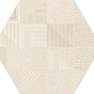 Hex 25 Atlanta Geo Ivory Hexagonal Variedad 3 22×25