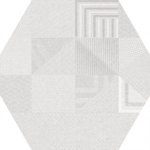 Hex 25 Atlanta Geo White Hexagonal Variedad 2 22×25
