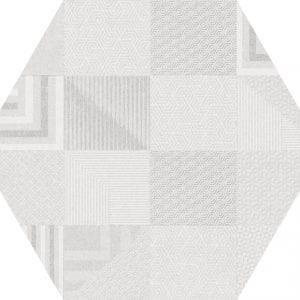 Hex 25 Atlanta Geo White Hexagonal Variedad 3 22×25
