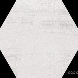 Hex 25 Atlanta White Hexagonal 22×25