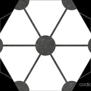 Hex 25 Atom White Hexagonal 22×25