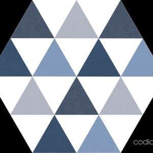 Hex 25 Delta Blue 22×25 Hexagonal