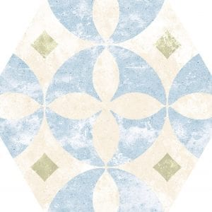 Heritage Mix Hex25 Hexagonal Variedad 4 22×25
