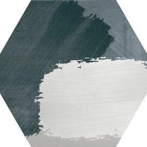 Hex 25 Rothko Mix Grey Variedad 3 Hexagonal 22×25
