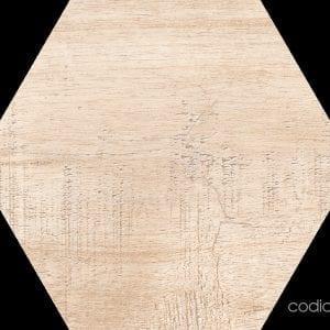 Hex 25 Sawnwood Beige Hexagonal 22×25