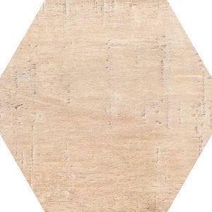 Hex 25 Sawnwood Beige Variedad 1 Hexagonal 22×25