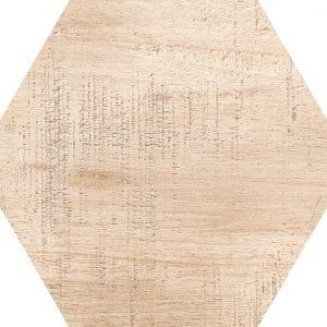Hex 25 Sawnwood Beige Variedad 2 Hexagonal 22×25