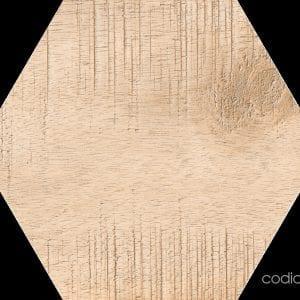 Hex 25 Sawnwood Brown Hexagonal 22×25