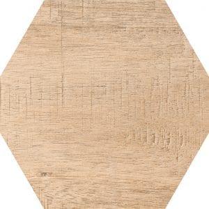 Hex 25 Sawnwood Brown Variedad 1 Hexagonal 22×25