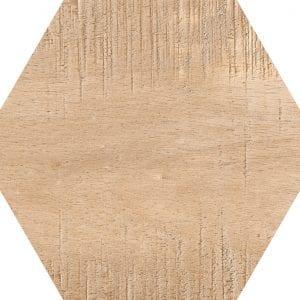 Hex 25 Sawnwood Brown Variedad 2 Hexagonal 22×25