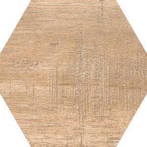 Hex 25 Sawnwood Brown Variedad 3 Hexagonal 22×25