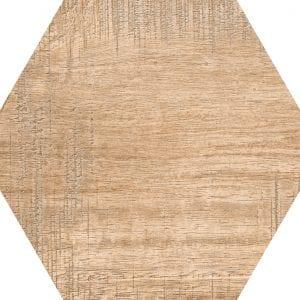 Hex 25 Sawnwood Brown Variedad 4 Hexagonal 22×25