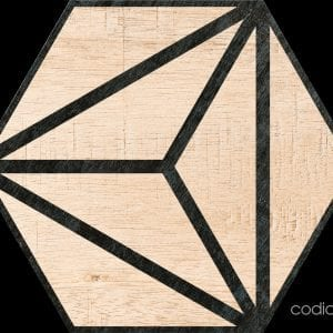 Hex 25 Tribeca Beige Hexagonal 22×25