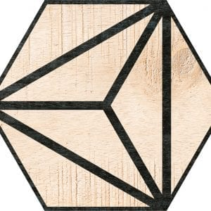 Hex 25 Tribeca Beige Hexagonal Variedad 1 22×25
