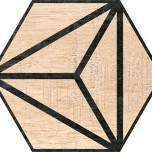 Hex 25 Tribeca Beige Hexagonal Variedad 2 22×25