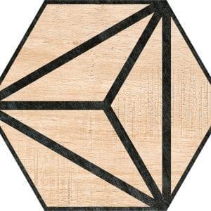 Hex 25 Tribeca Beige Hexagonal Variedad 4 22×25