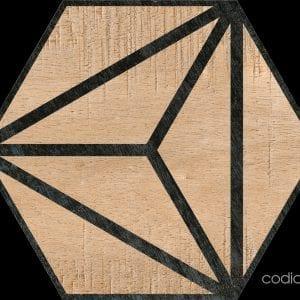 Hex 25 Tribeca Brown Hexagonal 22×25