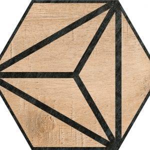 Hex 25 Tribeca Brown Hexagonal Variedad 1 22×25