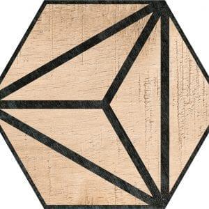 Hex 25 Tribeca Brown Hexagonal Variedad 2 22×25
