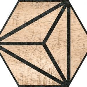 Hex 25 Tribeca Brown Hexagonal Variedad 3 22×25