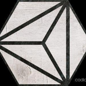 Hex 25 Tribeca Grey Hexagonal 22×25