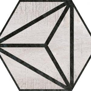 Hex 25 Tribeca Grey Hexagonal Variedad 1 22×25