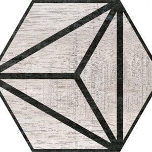 Hex 25 Tribeca Grey Hexagonal Variedad 2 22×25