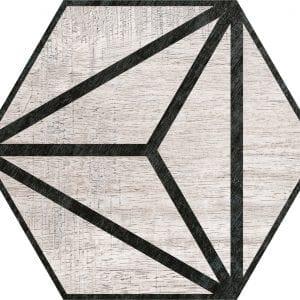 Hex 25 Tribeca Grey Hexagonal Variedad 3 22×25