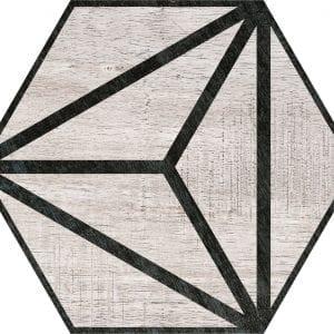 Hex 25 Tribeca Grey Hexagonal Variedad 4 22×25