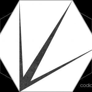 Hex 25 Trident Blanco Hexagonal 22×25