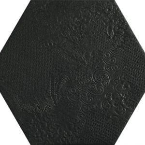 Milano Black Hexagonal Variedad 2 22×25