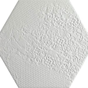 Milano White Hexagonal Variedad 1 22×25