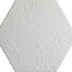 Milano White Hexagonal Variedad 2 22×25