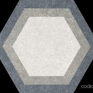 Traffic Combi Grey Mix Hexagonal 22×25