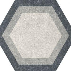 Traffic Combi Grey Mix Hexagonal Variedad 1 22×25