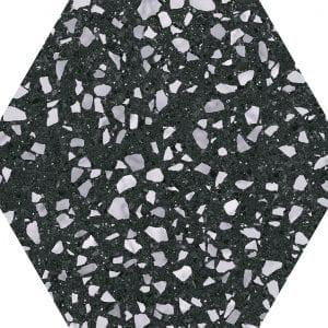 Venice Black Hex25 Hexagonal Variedad 2 22×25