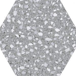 Venice Silver  Hex25 Hexagonal 22×25