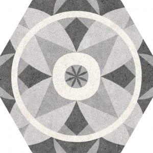 Vintage Mix Hexagonal 22×25
