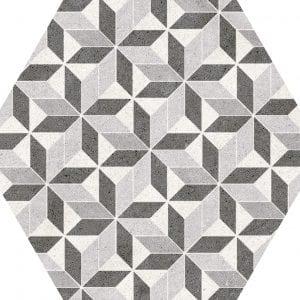 Vintage Mix Hexagonal Variedad 3 22×25