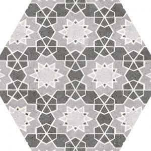 Vintage Mix Hexagonal Variedad 4 22×25