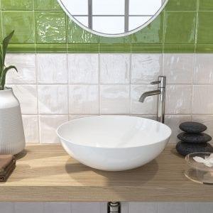Azulejos Serie FENG SHUI - Verde y Blanco