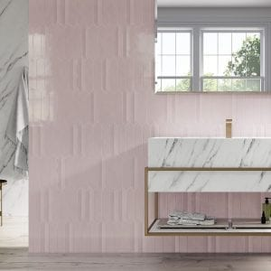 Dimsey pink 6,5×33,2. Dimsey outside pink 6,5×33,2. Ducale pulido 120×260. Nordik maple 20×120.