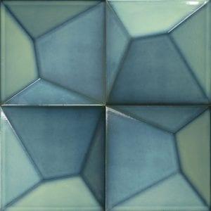 Vertex Line Turquoise 15×15